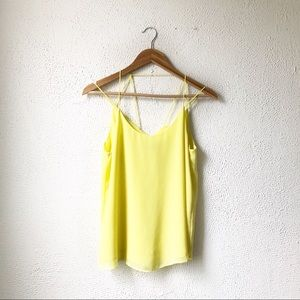 Naked Zebra | Yellow Detailed Back Tank Top S